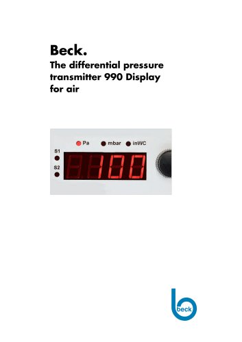990 Differential Pressure Manometer for Air