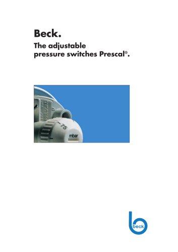 Adjustable Pressure Switch 901 Prescal