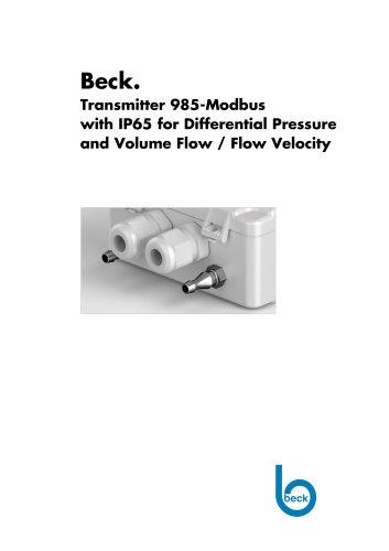 Differential Pressure Transmitter 985 Modbus