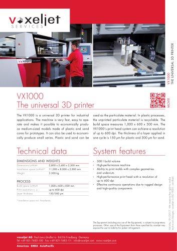 VX1000 The universal 3D printer
