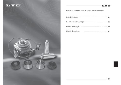 Hub Unit Redirection Pump Cluth Bearings