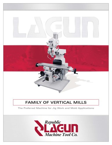 Maintenance Republic-Lagun FTV-4 Milling Machine Operation Parts Manual #1542