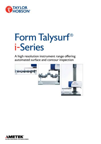 Form Talysur f ® i- Series