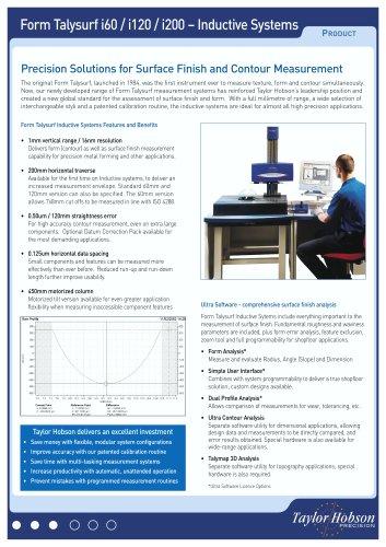 Form Talysurf i60 / i120 / i200 – Inductive Systems