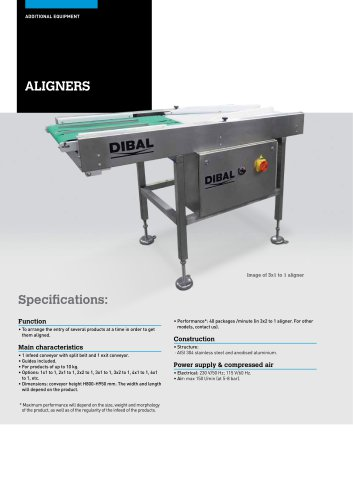 AUTOMATIC ALIGNERS FOR PRODUCTION LINES