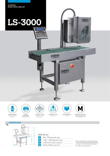 AUTOMATIC LABELLERS LS-3000 SERIES