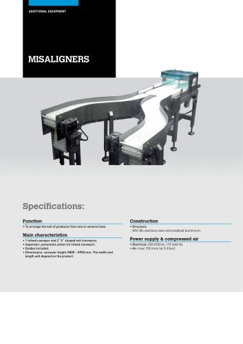 AUTOMATIC MISALIGNERS FOR PRODUCTION LINES