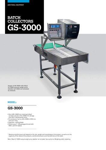 BATCH COLLECTORS GS-3000 SERIES