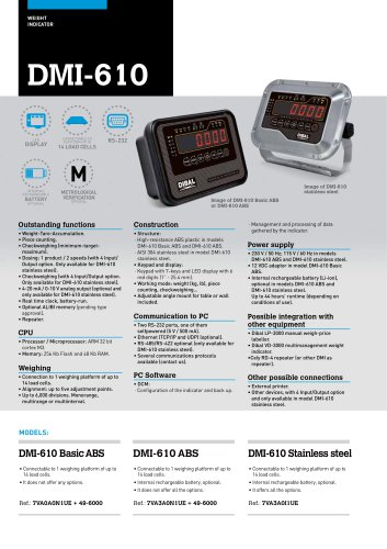 DMI-610 WEIGHT INDICATORS