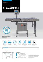 HIGH SPEED AUTOMATIC CHECKWEIGHERS CW-4000+ SERIES