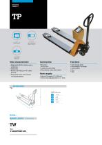 WEIGHING FORKLIFTS TP SERIES