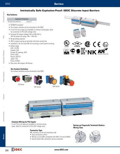 Complete Intrinsically Safe Barriers Catalog