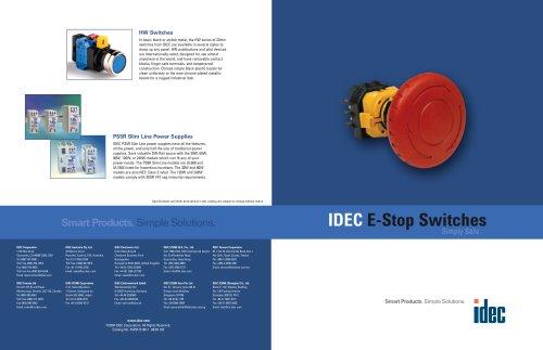 IDEC E-S top Switches