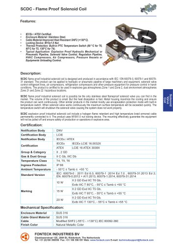 SCDC - Flame Proof Solenoid Coil