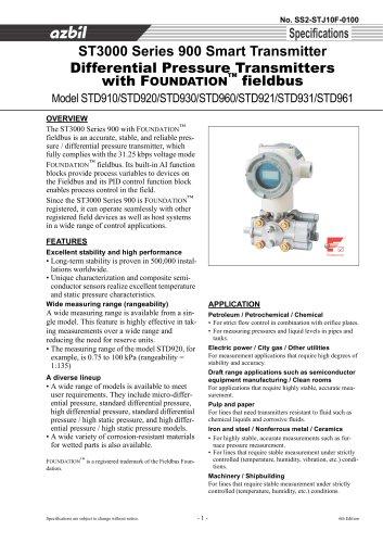 Series 900 Differential Pressure Transmitters