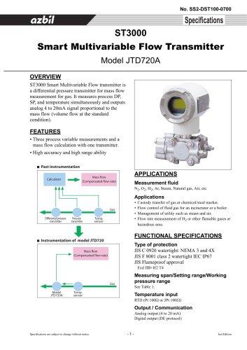 Smart Multivariable Flow Transmitter