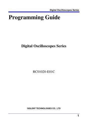 Programming Guide For SDS1000X-E Serie