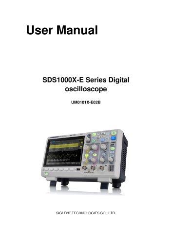 SIGLENT/oscilloscope/SDS1000X-E/User manual