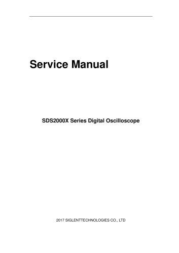 SIGLENT/oscilloscope/SDS2000X/service manual