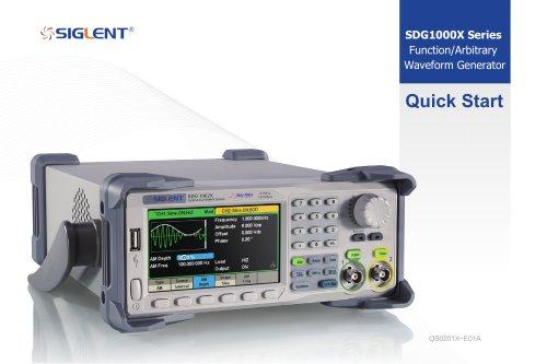 Siglent SDG1000X Waveform Generators QuickStart