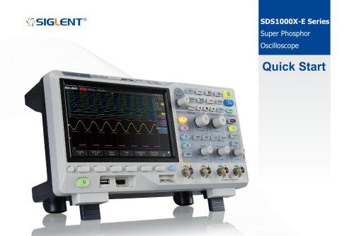 Siglent SDS1000X-E Series QuickStart