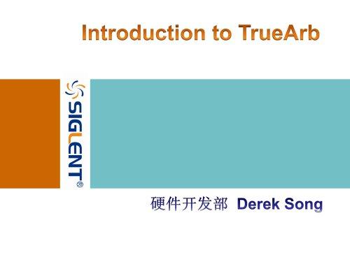 Siglent TrueArb Technology