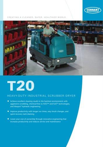 T20 Ride-on scrubber-dryer