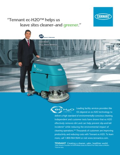 Tennant ec-H2O™ helps us  leave sites cleaner–and greener