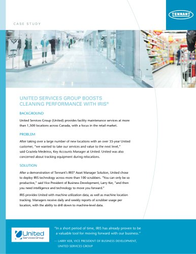 UNITED SERVICES GROUP BOOSTS CLEANING PERFORMANCE WITH IRIS®