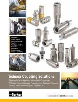 Subsea Coupling Solutions Plate and Cartridge Mountable Stab Couplings,  ROV and Diver-Mateable Connections, Related Products