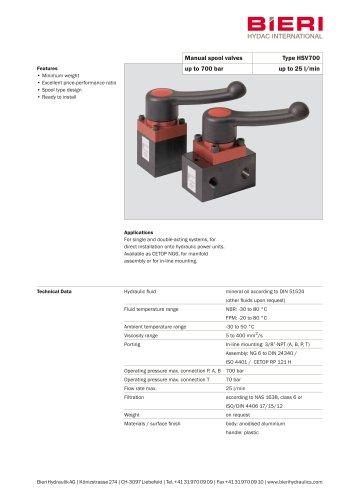 Manual gate valves HSV700