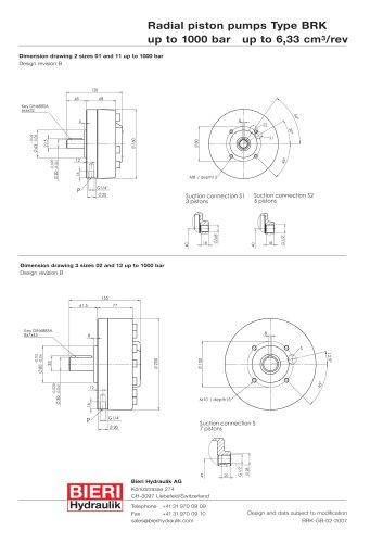 Radial piston pumps