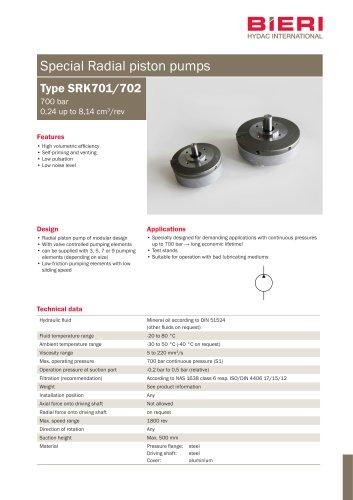Type SRK701/702