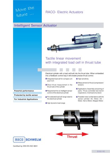 COMPACT Sensor Actuator with load cell