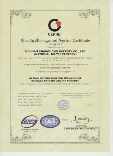 CHANGHONG ISO 9001