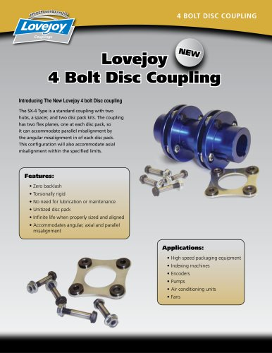 4 BOLT DISC COUPLING