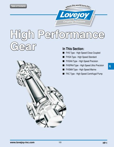High Performance Gear Catalog