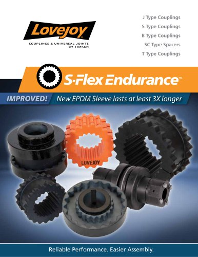 S-Flex Endurance Couplings Catalog