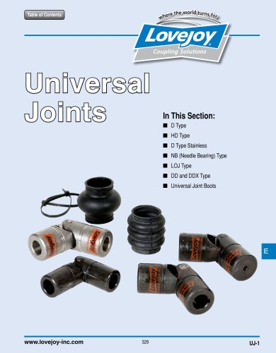 Universal Joints Catalog