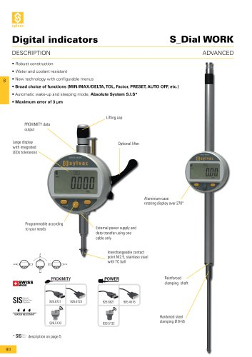 e8 digital indicator S_Dial WORK ADVANCED
