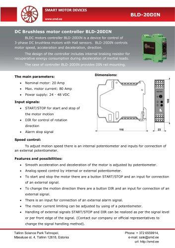 BLDC motor controller BLD-20DIN
