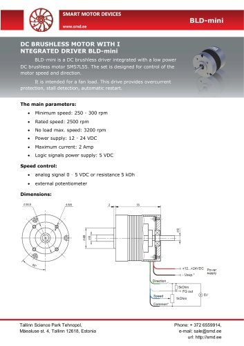 BLDC motor with integrated driver