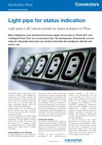 Application Note Light pipe for status indication