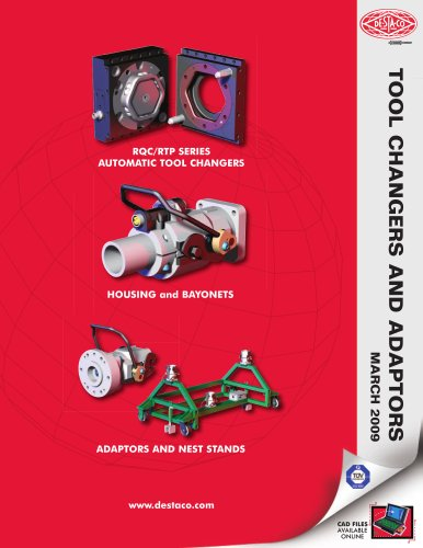 DSC Tool Changes and Adaptors Catalog
