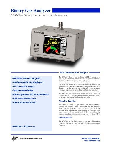 BGA244 — Gas ratio measurement to 0.1 % accuracy