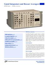 Boxcar Series Gated Integrators and Boxcar Averagers