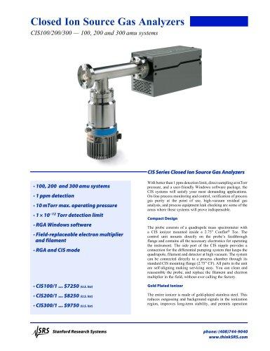 CIS Closed Ion Source Gas Analyzers