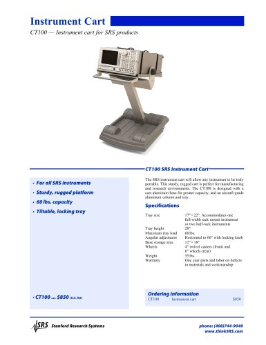 CT100 SRS Instrument Cart