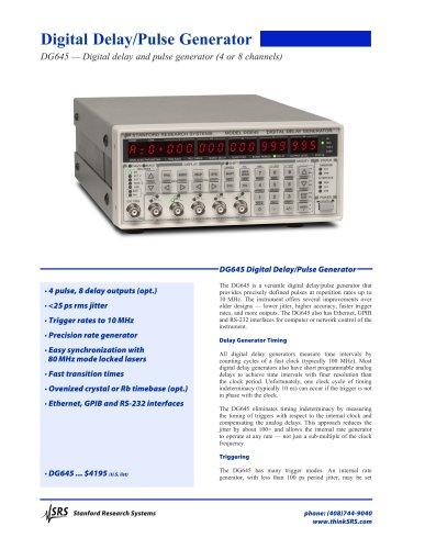 DG645Digital Delay/Pulse Generator