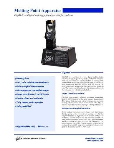 DigiMelt — Digital melting point apparatus for students